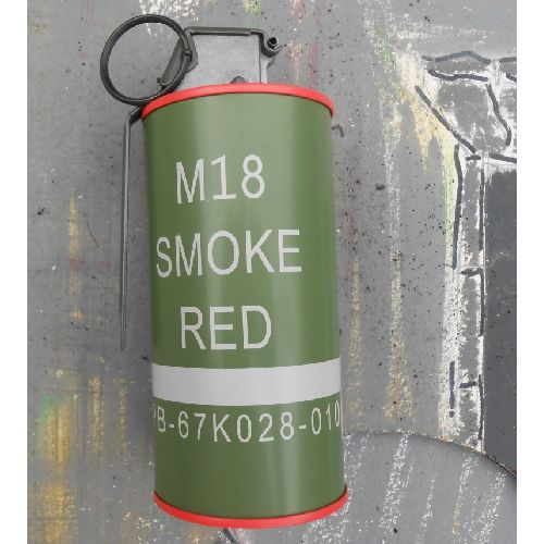Can Grenade with red smoke USA Vietnam War type M201-A1 pattern - Relics Replica Weapons
