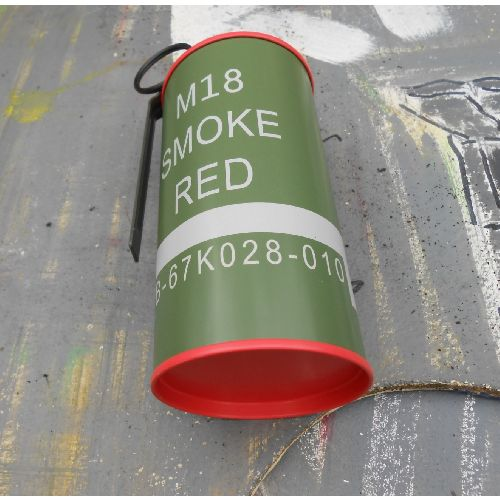 Can Grenade USA Vietnam War type M201-A1 with red smoke - Relics Replica Weapons