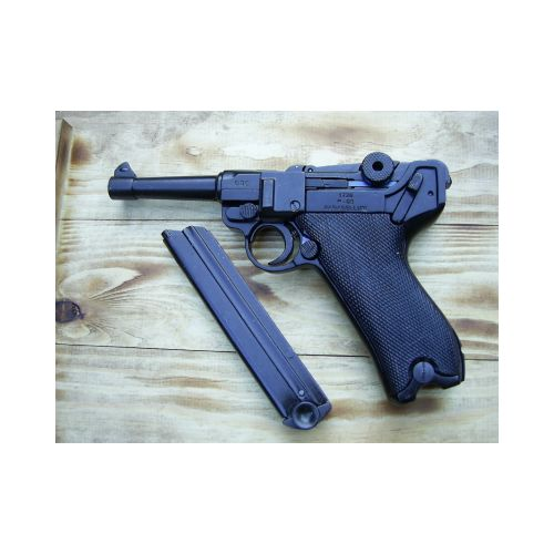 Luger P-O8 German WW1 and 2 pattern metal replica pistol - Relics Replica Weapons