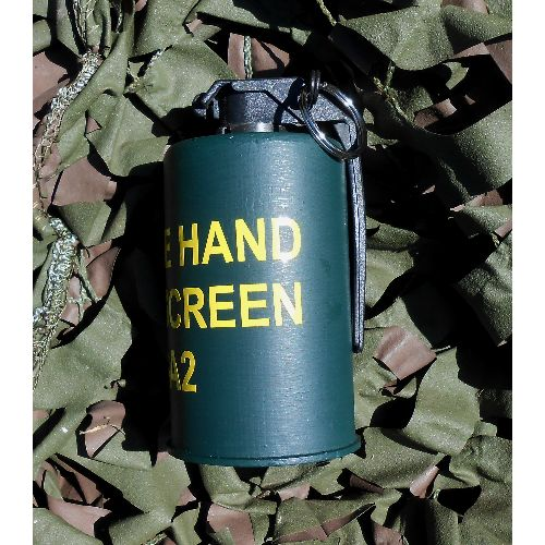 Full size replica British Army smoke screen grenade - Relics Replica Weapons
