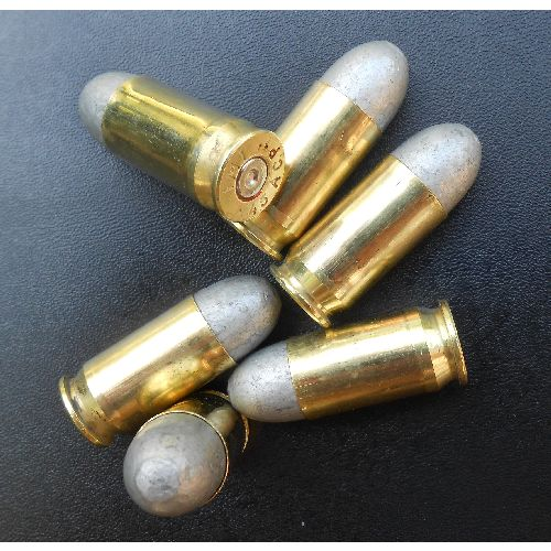 .45 ACP short bullets with lead heads and brass cases - Relics Replica Weapons