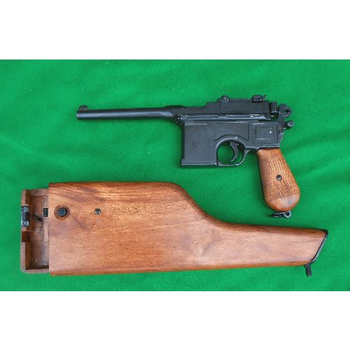 c96 mauser pistol with wood stock Relics replica by Denix