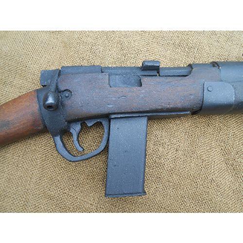 De Lisle Carbine rifle wood and metal replica - Relics Replica Weapons