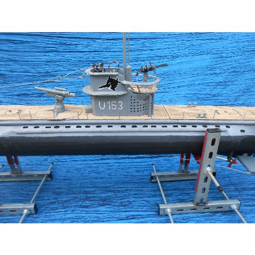Hand built U-153 model submarine - Relics Replica Weapons