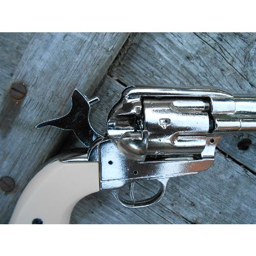 Colt Metal Frontier Sixgun with Plain Ivory look grips - Relics Replica Weapons