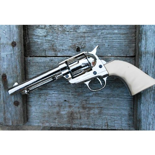Colt All Metal Frontier Sixgun with Plain Ivory look grips - Relics Replica Weapons