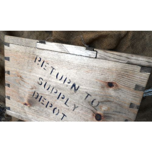 Ammunition Crate Wooden WW1 World War One .303 British - Relics Replica Weapons