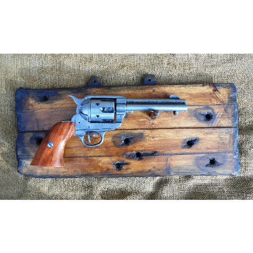 Revolver Rack for sixguns distressed wood - Relics Replica Weapons
