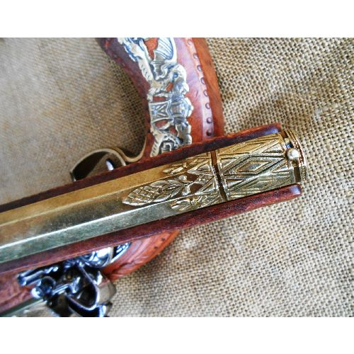 French Ornate Flintlock Duelling Pistol - Relics Replica Weapons