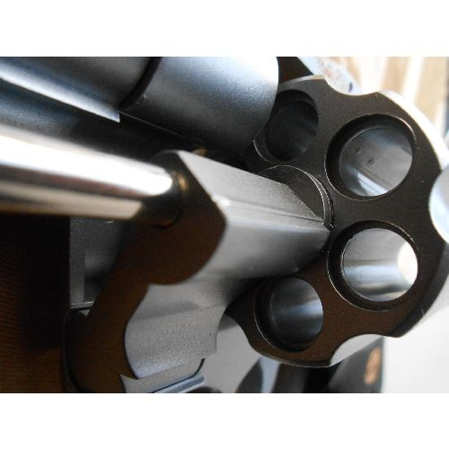 Magnum Revolver Stainless 357 4 inch barrel plastic replica gun - Relics Replica Weapons