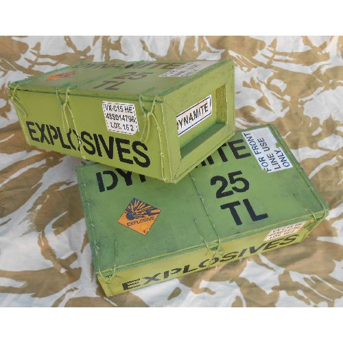 Dynamite Box/Crate Excellent Real Wood Film Prop - Relics Replica Weapons