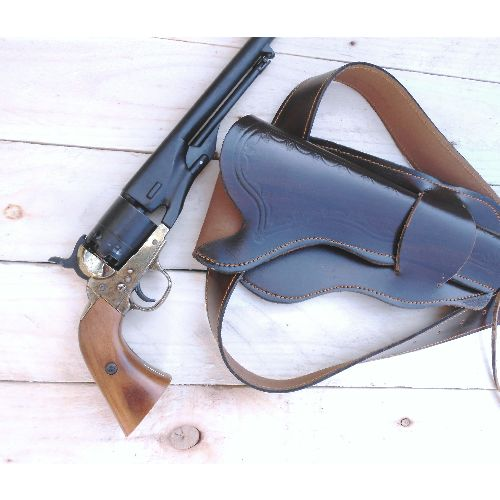 Colt Cap and Ball pistol belt and leather holster - Relics Replica Weapons