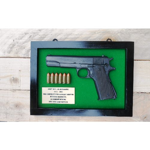 Colt 45 Government Automatic M1911 Gun Plaque - Relics Replica Weapons