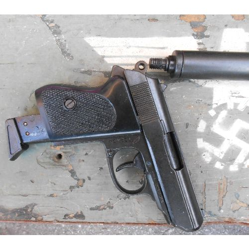 Walther PPK Metal Replica WW2 German replica pistol with Silencer - Relics Replica Weapons