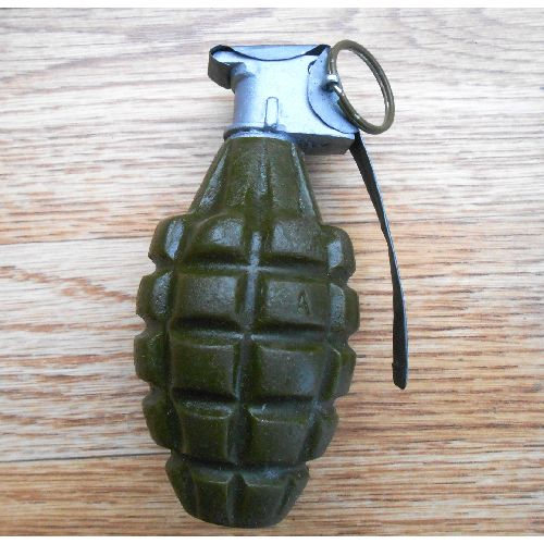 M2 Fragmentation Pineapple Grenade Hard Resin Full Size Copy - Relics Replica Weapons