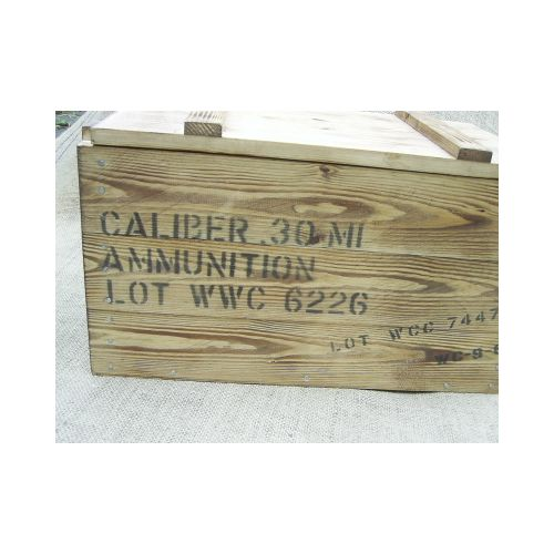 AMMO BOX .30 M1 CARBINE AMMUNITION USA WW2 PATTERN - Relics Replica Weapons