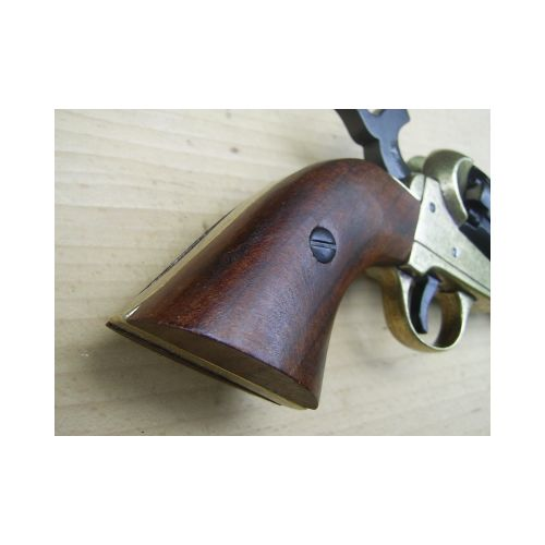 Colt Navy cap and ball Revolver Black and Brass finish. - Relics Replica Weapons