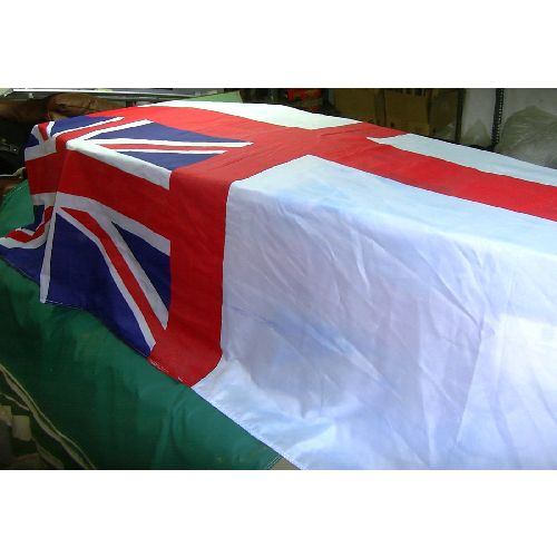 Coffin Drape/Flag Large Royal Navy White Ensign - Relics Replica Weapons