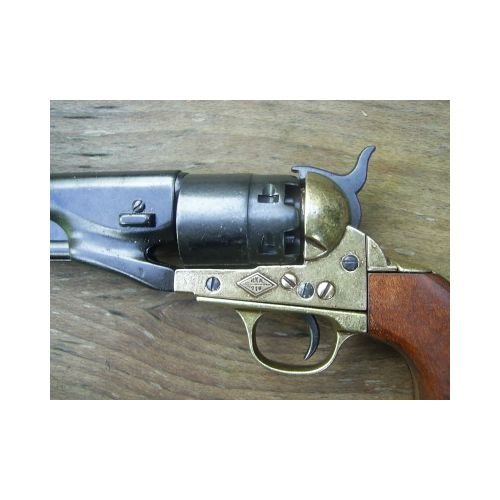 Colt Army Cap and Ball Black and Brass Replica Revolver- Relics Replica Weapons