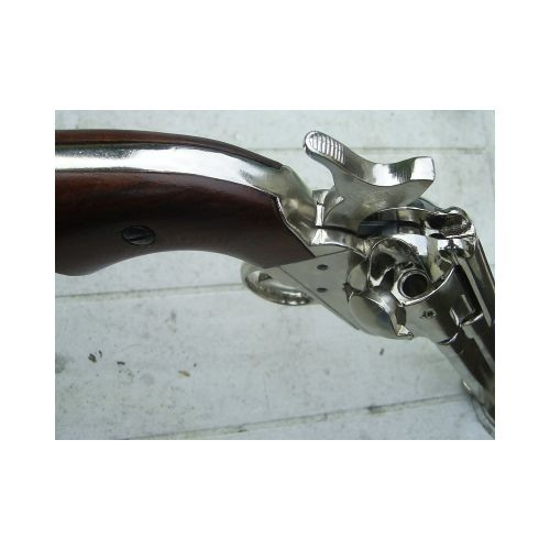 Colt Cavalry Colt Cavalry Army model sixgun Revolver Nickel plated replica - Relics Replica Weapons