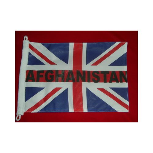 AFGHANISTAN UNION JACK ANTENNA PENNANT - Relics Replica Weapons