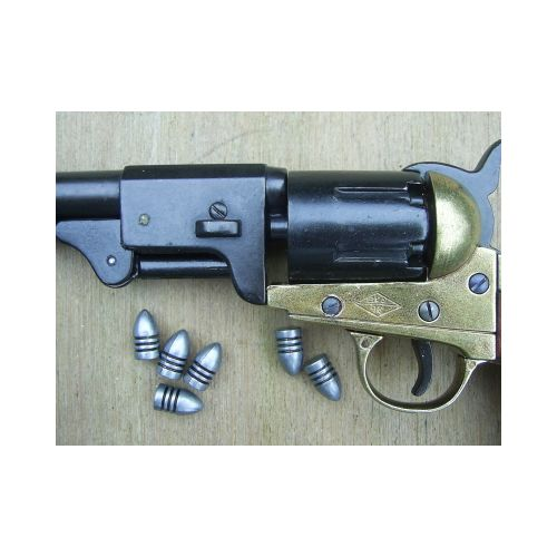Cap and Ball Revolver bullets x 12 Denix type - Relics Replica Weapons