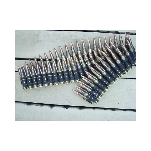 7.62 NATO INERT AMMUNITION BELT X 65 LINKED ROUNDS - Relics Weapons