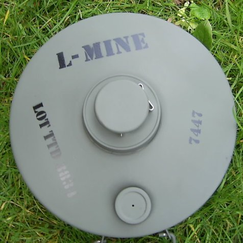 British Improvised Anti-Tank Landmine WW2 type PARA-F1.n - Relics Replica Weapons