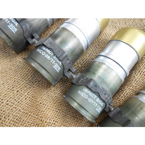 Chain of 10 rebuilt 40mm linked grenades - Relics Replica Weapons