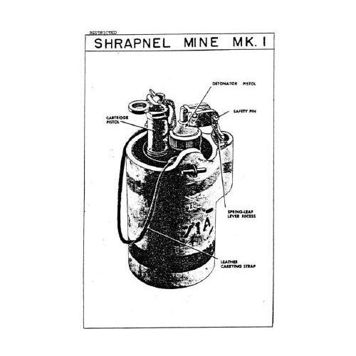BRITISH WW2 ANTI-PERSONNEL MK2 SHRAPNEL MINE - Relics Replica Weapons