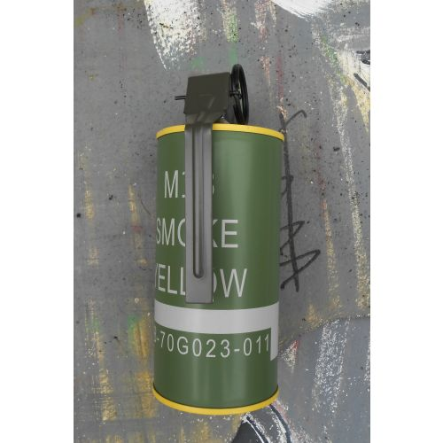 Can Grenade with yellow smoke USA Vietnam War type M201-A1 pattern - Relics Replica Weapons