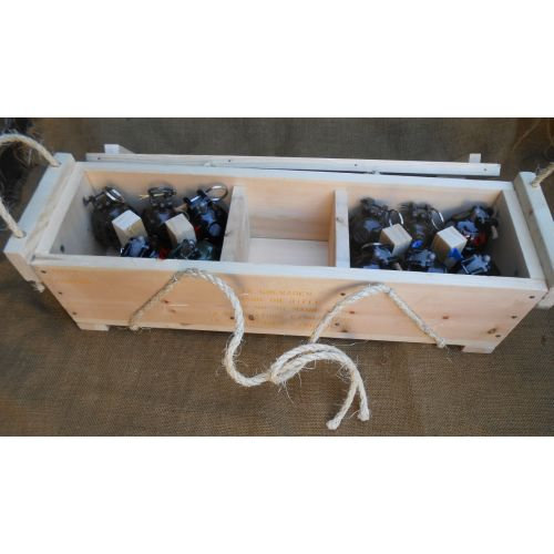 Reproduction Wood WW2 British Army No. 36 Mills Grenade Box/Bomb Crate - Relics Replica Weapons