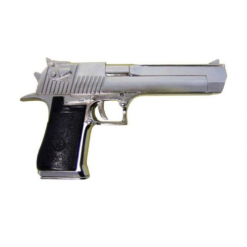 Desert Eagle IMI nickel plated Metal Replica Gun by Denix - Relics Replica Weapons
