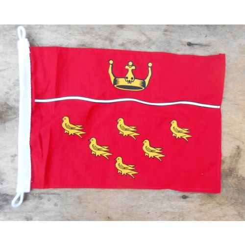 East Sussex red and gold small Martlet badge pennant - Relics Replica Weapons