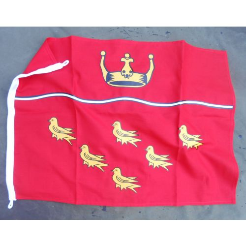 East Sussex Martlet Badge Flag 4 foot Double sided Red and Gold - Relics Replica Weapons