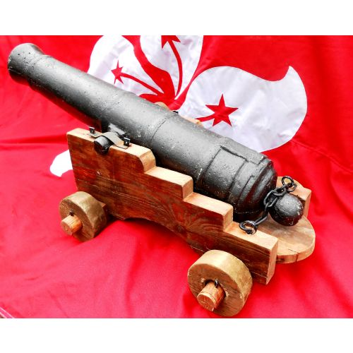 English Navy HMS Victory style cannon, rustic and realistic -  Relics Replica Weapons