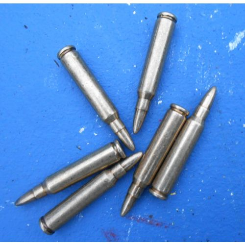Bullets dummy ammunition.223 5.56 calibre caliber imitation SA80 type rifle ammo  - Relics Replica Weapons