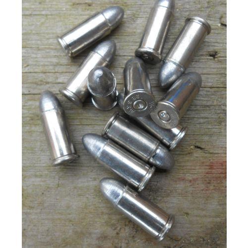 .38 Shorts S&W Inert nickel lead bullets x 12 - Relics Replica Weapons