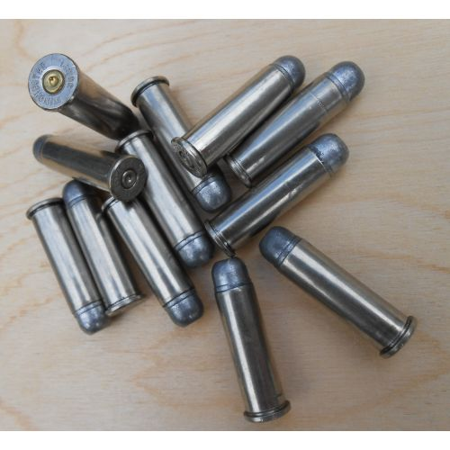 BULLETS .38 SPECIALS INERT NICKEL CASED LEAD HEADS x12 the silver bullet - Relics Replica Weapons