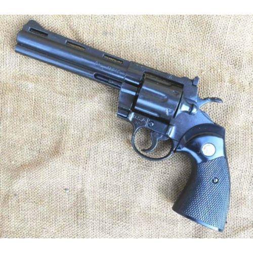 Colt Python Magnum .357 6 inch gun black metal Denix Replica Revolver - Relics Replica Weapons