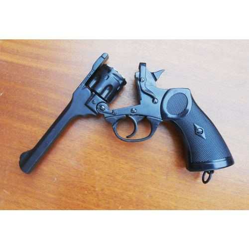 Webley MK4 British WW2 Denix metal replica revolver WITH OPENING ACTION