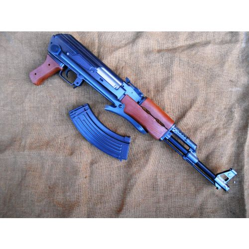 AK47 Kalashnikov Soviet Rifle with metal folding stock - Relics Replica Weapons