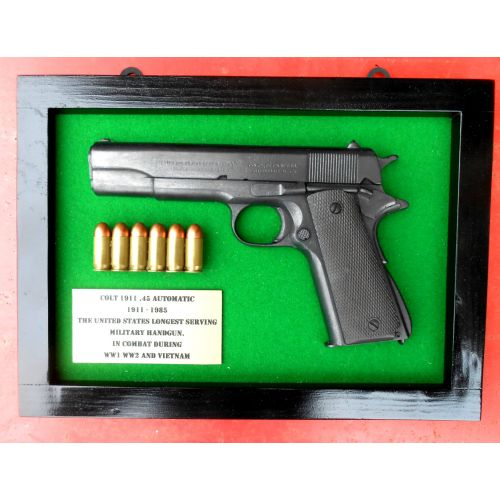 Colt Government Automatic 1911 Gun Plaque Resin half gun by Relics