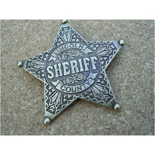 Lincoln County Sheriffs Star - Relics Replica Weapons