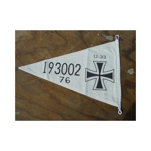 GERMAN IMPERIAL WW1 U-BOAT SUBMARINE U-33 PENNANT - Relics Replica Weapons