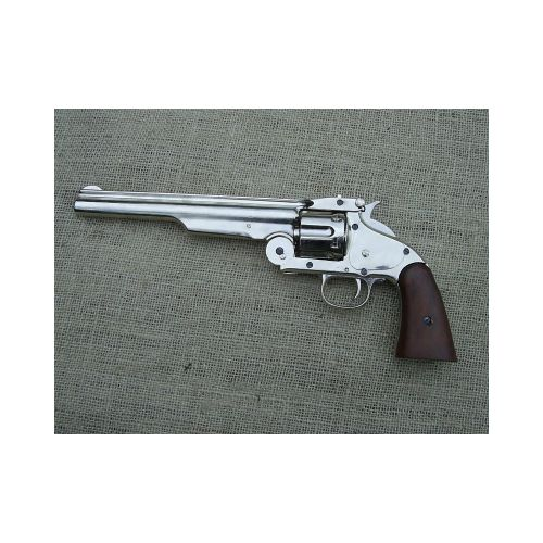 Schofield Smith and Wesson Revolver nickel - Relics Replica Weapons