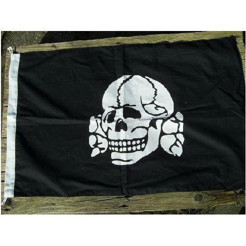 Deaths Head Totenkopf  SS Flag - Relics Replica Weapons