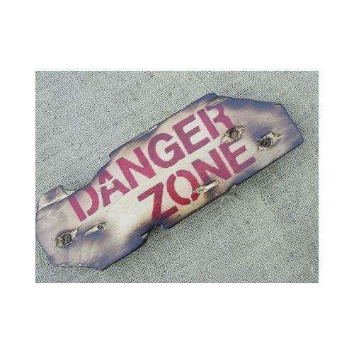 DANGER ZONE MILITARY SIGN - Relics Replica Weapons