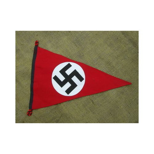 Nazi Party Emblem Hakenkruz Pennant Flag - Relics Replica Weapons