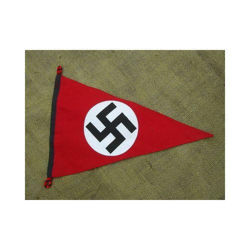 Nazi Party Emblem Hakenkruz Pennant Flag - Relics Replica Weapons